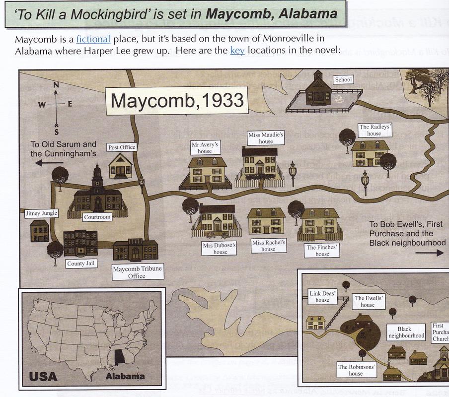 Beautiful Map Of Maycomb To Kill A Mockingbird Photos - Printable ...